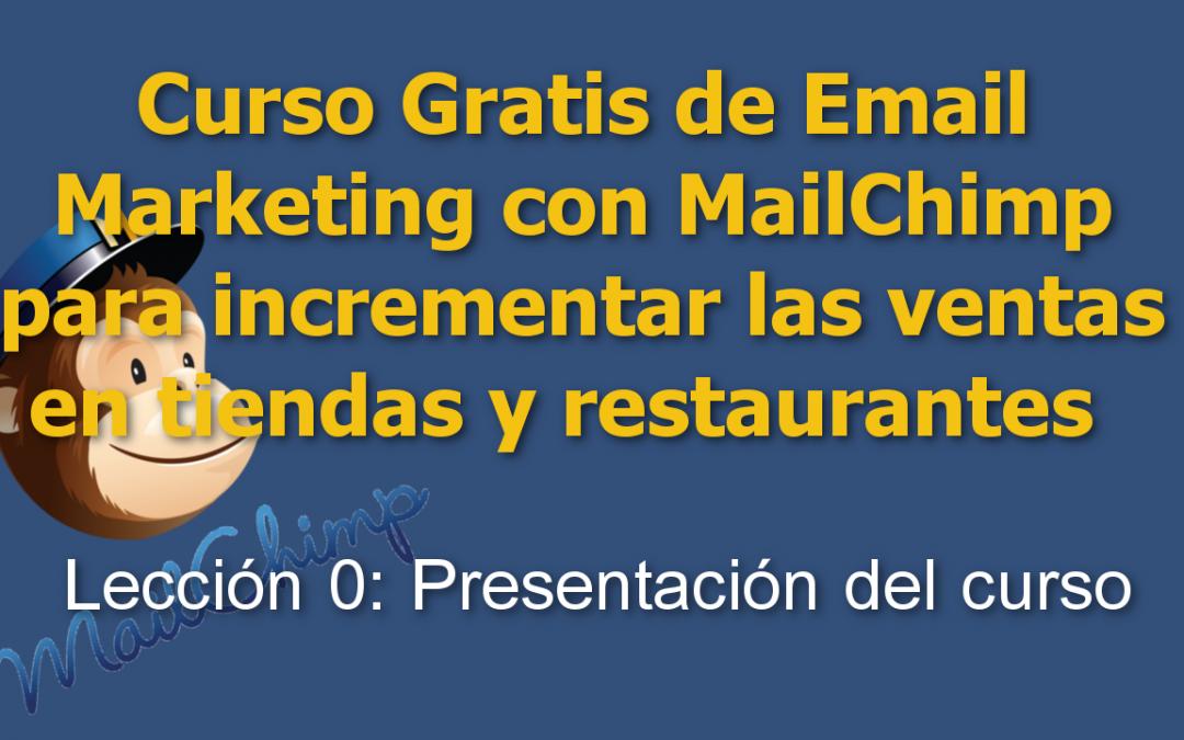 Curso de Email Marketing con Mailchimp para tiendas y restaurantes