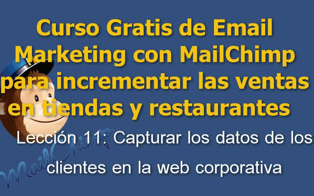 Lección 11 Curso Email marketing con Mailchimp para tiendas y restaurantes