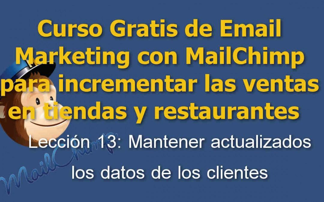 Lección 13 Curso Email marketing con Mailchimp para tiendas y restaurantes