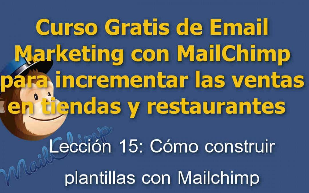Lección 15 Curso Email marketing con Mailchimp para tiendas y restaurantes