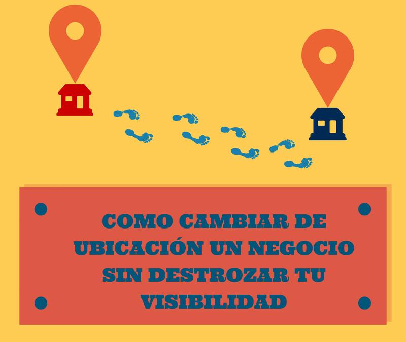 Cómo cambiar de ubicación un negocio sin que destroces tu visibilidad online