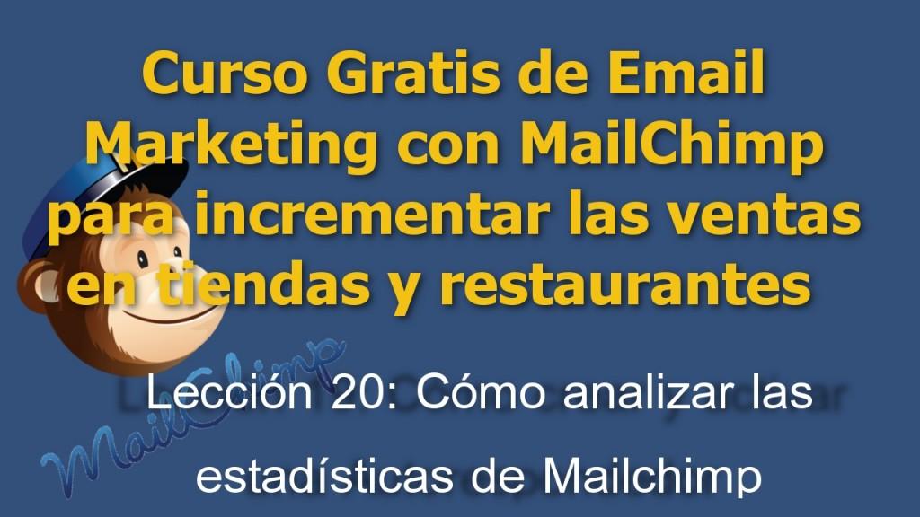 Las estadísticas del email marketing que debes tener en cuenta para valorar tus campañas con Mailchimp